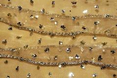 плетение золота ткани декора Стоковые Фото