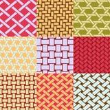 Плетеные картины weave иллюстрация штока