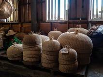 Плетеные тайские искусства и ремесла стоковое фото rf