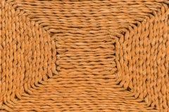 Плетеные текстура и предпосылка Стоковая Фотография