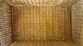 Плетеный взгляд корзины коробки сверху стоковая фотография rf