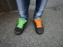 Плетки ботинка стоковые изображения rf