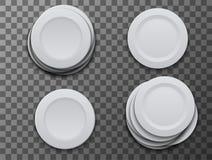 Плита блюда вектора современная на прозрачной предпосылке Стоковое Изображение RF