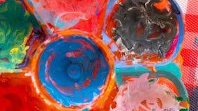 Плита блюда Multi цвета искусства смешивая стоковые изображения rf