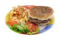 плита гамбургера Стоковое Изображение RF