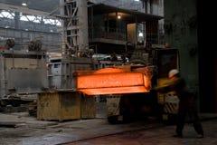 плита горячего металла moving Стоковое фото RF