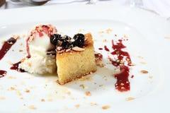 плита десерта Стоковая Фотография