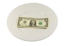 плита доллара одного кредитки Стоковые Изображения