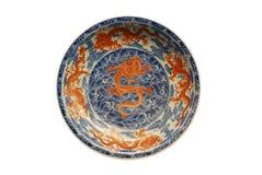 плита дракона 5 покрашенная красная Стоковые Фотографии RF