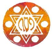 плита еврейской пасхи matzo Стоковое Изображение