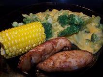 плита еды обеда Стоковые Изображения