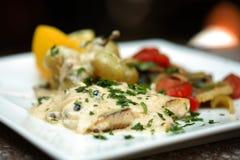 плита еды Стоковая Фотография RF