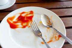 Плита завтрака закончила стоковые фотографии rf