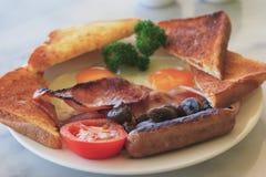 плита завтрака полная Стоковое Фото