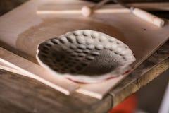 Плита заготовки глины стоковые фотографии rf