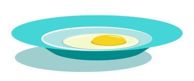 плита зажаренная яичком бесплатная иллюстрация
