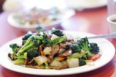 плита китайца брокколи говядины Стоковые Изображения