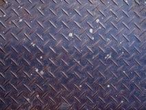 Плита контролера старого ржавого пакостного утюга сини стальная Стоковые Фотографии RF