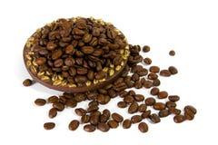 плита кофе фасолей Стоковая Фотография