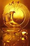 плита кувшина свечки стеклянная Стоковые Фотографии RF
