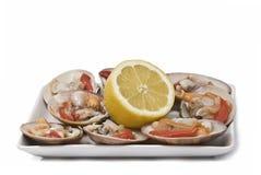 плита лимона clams ровная Стоковое Фото
