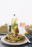 плита макаронных изделия обеда Стоковые Фото