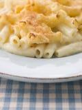 плита макарон сыра Стоковое Фото