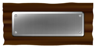 плита металла названная Стоковые Фото