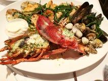 Плита морепродуктов стоковое изображение