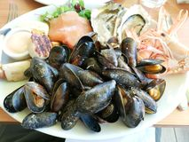 Плита морепродуктов стоковая фотография