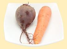 плита морковей свеклы Стоковые Фотографии RF