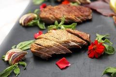 плита мяса ветчины Стоковое Фото