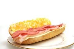 плита мяса сыра открытая Стоковое фото RF