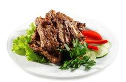 плита мяса Стоковое Изображение