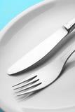плита ножа вилки Стоковые Фото