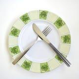 плита ножа вилки Стоковая Фотография RF