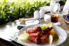 плита обеда плодоовощ Стоковая Фотография
