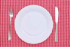 плита обеда пустая Стоковые Фото