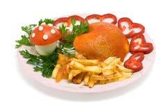плита обеда Стоковые Фото