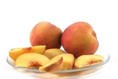 плита персиков Стоковые Изображения