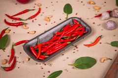 Плита перцев chili Стоковая Фотография RF