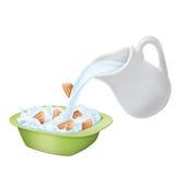 плита питчера молока печениь Стоковое Изображение RF