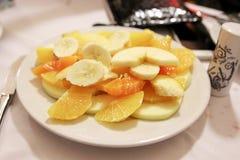 Плита плодоовощ после еды Стоковая Фотография