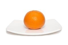 плита померанца мандарина Стоковые Изображения RF