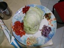 Плита свежих овощей Стоковое фото RF