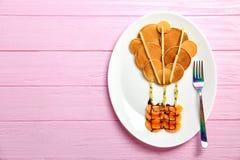 Плита с блинчиками в форме горячего воздушного шара Стоковое Фото