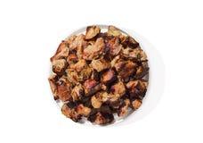 Плита с зажаренным мясом стоковая фотография