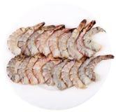 Плита с креветками тигра стоковые фотографии rf