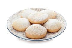 Плита с печеньями на исламские праздники eid mubarak стоковые изображения rf
