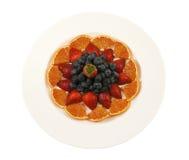 Плита с свежими фруктами стоковое изображение